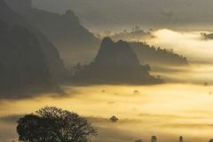 NanThailand Sakern atTam тумана Стоковая Фотография