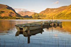 Nantlle fishing boats Royalty Free Stock Image