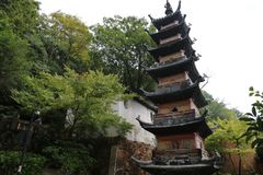Scenic spot of langshan in Nantong, Jiangsu Province, China Stock Photo