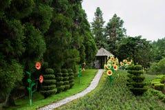 Nantou County, Taiwan Cingjing Farm Little Swiss Garden. Stock Photo