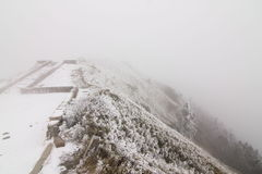 Nantou Hehuan berg i Taiwan i snö Royaltyfri Bild