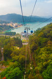 Nantou, Taiwan - November 21, 2015: The Sun Moon Lake Ropeway is. A scenic gondola cable car service that connects Sun Moon Lake with the Formosa Aboriginal stock images