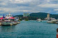 Nantou Tajwan, Listopad, - 21, 2015: Turysta lubi odwiedzać b Obraz Royalty Free