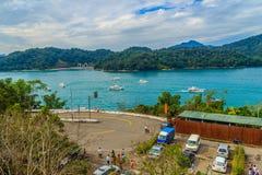 Nantou Tajwan, Listopad, - 21, 2015: Turysta lubi odwiedzać b Zdjęcia Royalty Free