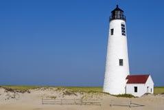 Nantuck海岛灯塔在马萨诸塞 免版税库存照片