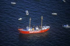 A Nantucket fishing boat in New York City stock images