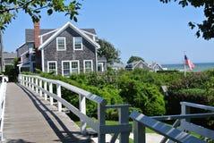 Nantucket-Häuser Lizenzfreies Stockfoto