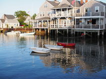 Nantucket Harbor MA. Nantucket Island MA.  is a popular tourist destination in the summer Stock Images