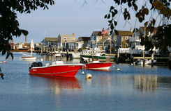 Nantucket, MA: Fishing Boats stock photo