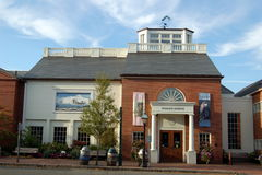 Nantucket, MA: The Whaling Museum. A former factory which made candles from whale oil is now the Whaling Museum housing a fine collection of scrimshaw, harpoons Royalty Free Stock Photography
