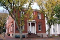 Nantucket, miliampère: Edifícios históricos do 19o século Fotos de Stock Royalty Free