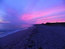 Nantucket Sunset. Beautiful Nantucket Sunset on Sconset Beach Royalty Free Stock Photo