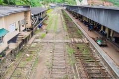 NANU OYA, SRI LANKA - JULY 17, 2016: View of a train station in Nanu Oya village, Sri Lan. Ka stock photography