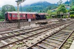 NANU OYA, SRI LANKA - JULY 17, 2016: View of a train station in Nanu Oya village, Sri Lan. Ka royalty free stock photo
