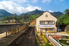 Nanu Oya train station. Nanu Oya, Sri Lanka - 1 March, 2014: Nanu Oya train station. It is also serving Nuwara Eliya which does not have its own train station royalty free stock images