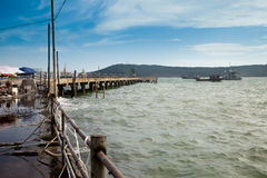 Nanwan dock,Weizhou Island,China Stock Image
