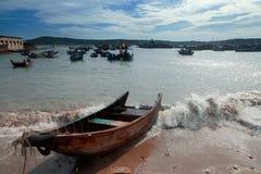 Nanwan port,Weizhou Island,China Royalty Free Stock Photos