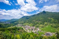 Aerial view of Nanxi Tulou cluster in fujian, china royalty free stock photography