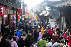 Nanxiang gammal gata Shanghai Arkivfoton