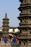 Nanxiang's Twin Brick Pagodas Stock Image