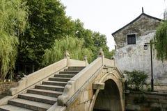 Stone bridge at chinese ancient town. Nanxun ancient town view.Zhejiang,china royalty free stock photos