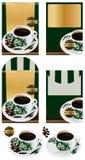 Nanyang coffee bean packaging design Stock Photo