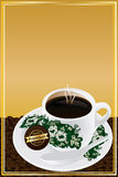 Nanyang coffee cup bean cover frame Royalty Free Stock Photo