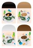 Nanyang cup morning sun pack tag set Royalty Free Stock Photography