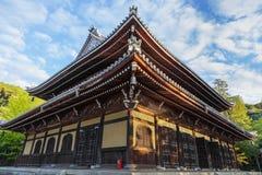 Nanzen籍寺庙的Dhamma霍尔在京都 免版税图库摄影