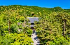 Nanzen籍寺庙看法在京都 库存图片