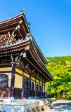 Nanzen籍寺庙看法在京都 库存照片