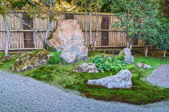 Nanzen籍寺庙石庭院在京都 库存图片