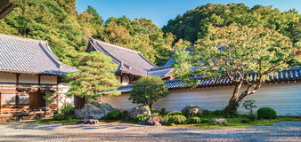 Nanzen籍寺庙石庭院在京都 免版税库存照片