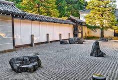 Nanzen籍寺庙石庭院在京都 免版税图库摄影