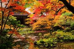 Nanzen-ji Temple at autumn, Kyoto. Autumn garden and shrine building at Nanzen-ji Temple, Kyoto, Japan. The most beautiful season to visit Nanzen-ji temple is Stock Photos