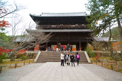 Nanzen-ji temple. KYOTO, JAPAN - DECEMBER 6, 2015: Nanzen-ji, Zuiryusan Nanzen-ji, formerly Zenrin-ji. Zen Buddhist shrine temple in Kyoto, Japan. Emperor stock image