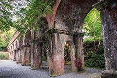 Nanzen-ji temple aqueduct,, kyoto, kansai, Japan royalty free stock image