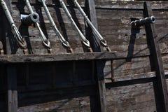Nao Santa María gun port Royalty Free Stock Photos
