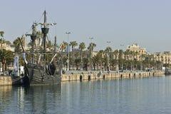 Nao Victoria in Barcelona Royalty-vrije Stock Foto