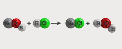 NaOH-formule Stock Foto's