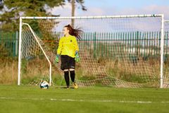 Naoisha McAloon during the Women`s National League match between Cork City FC Women and Peamount United. October 28th, 2018, Cork, Ireland: Naoisha McAloon royalty free stock image