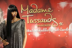 Naomi Campbell en señora Tussauds en Bangkok fotografía de archivo libre de regalías