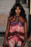 Naomi Campbell marche la piste à l'exposition d'Emilio Pucci en tant que partie de Milan Fashion Week Photo stock