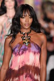 Naomi Campbell walks the runway at the Emilio Pucci show as a part of Milan Fashion Week Stock Photography