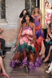 Naomi Campbell walks the runway at the Emilio Pucci show as a part of Milan Fashion Week Stock Images