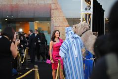 Naomi Robson am König Tut Exhibition Melbourne geöffnet Lizenzfreies Stockbild