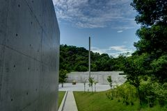 Naoshiam-Insel Art Piece Museum Japan stockbild