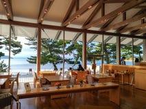 Naoshima Japan-Augusti 12, 2017: Benessen Art Museum Fotografering för Bildbyråer