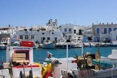 Naousa Fishing Port Royalty Free Stock Image