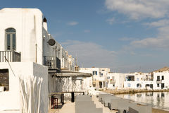 Naousa landscape in the morning at Paros island in Greece. Stock Image